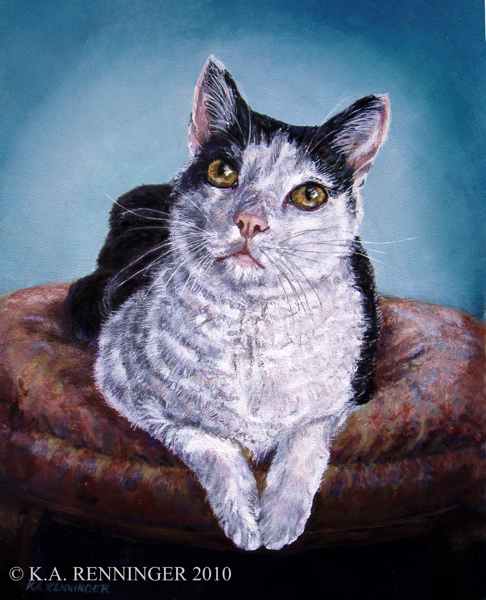 "Cat Portrait, ""Sitting Pretty"""