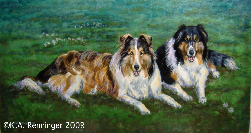 "Border Collies, ""Tank and Ginger"""