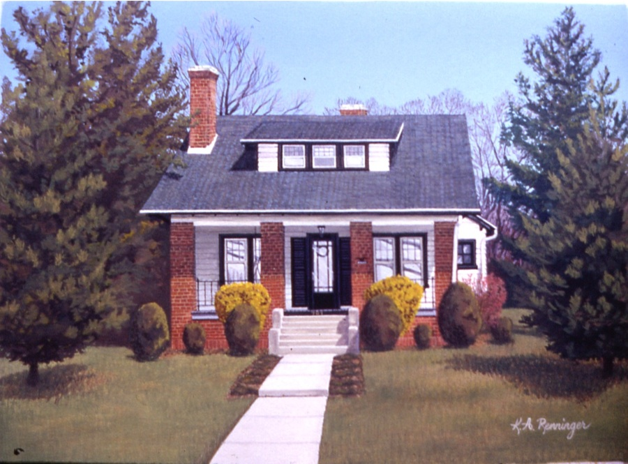 Bungalow Painting in Gouache