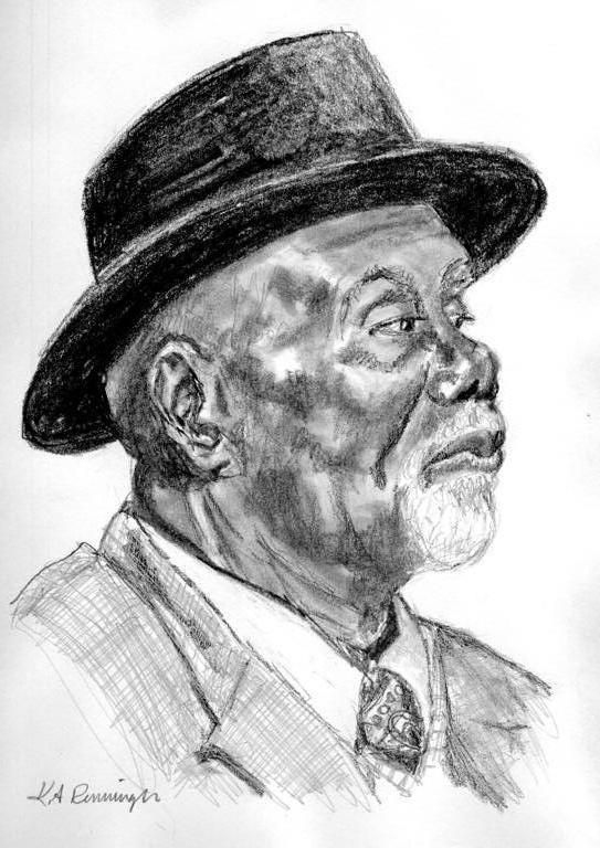 "Graphite pencil portrait ""James"""