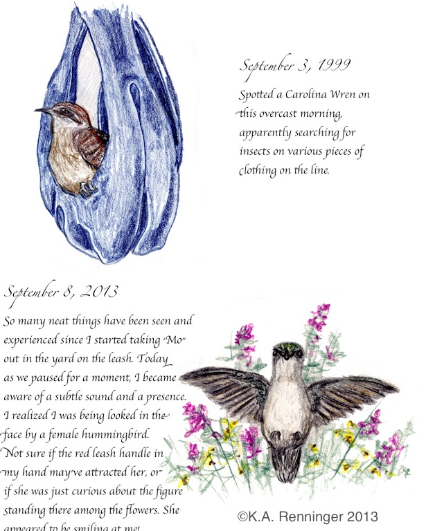 Pages From a Nature-Lover's Diary Sample Page from September